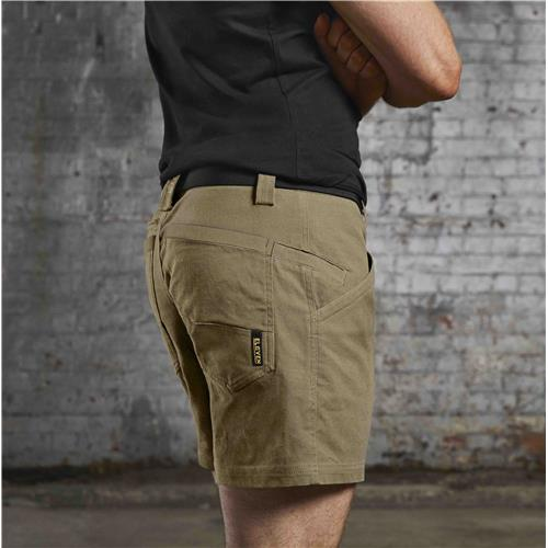 E1210 Khaki 4 Inch Chizeled Short On Body