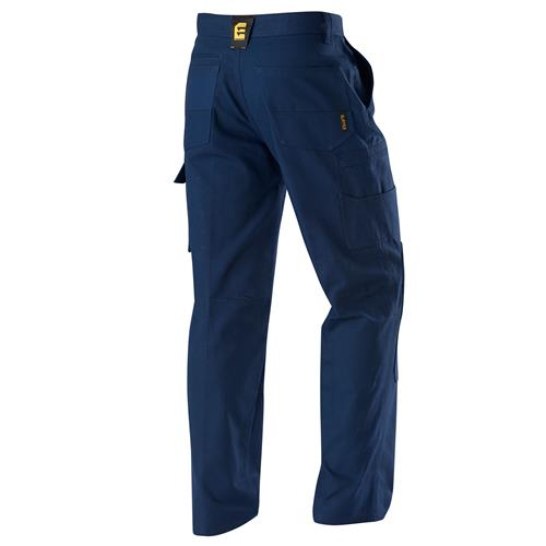 E1160 Navy Chizeled Cargo Pants with Knee Protection