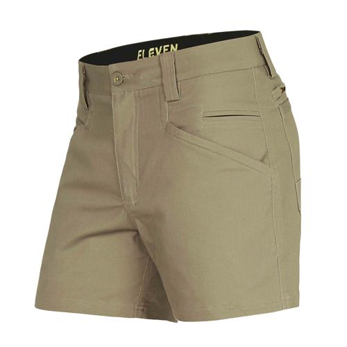 E1210 Khaki 4 Inch Chizeled Short