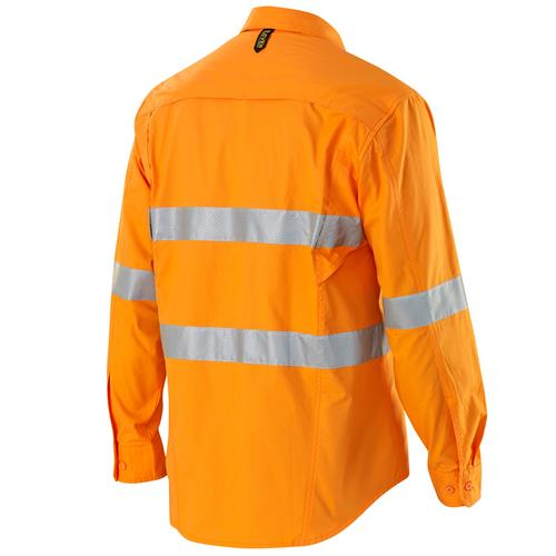 E1370T Hi Vis Orange AeroCool Shirt with Perforated Tape