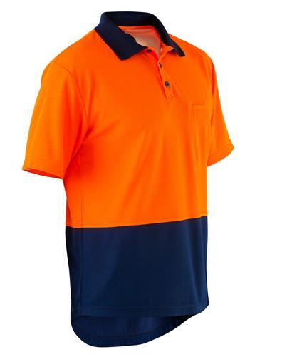 Hi vis cotton backed spliced polo shirt s s for Hi vis t shirts cotton