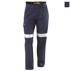 E1100T Navy Evolution Drill Work Pants with 3M Tape
