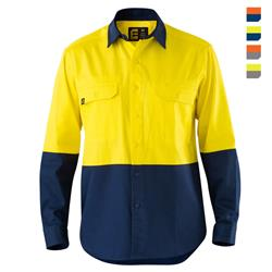 E1300S Hi Vis Spliced Evolution Drill Shirt