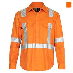 E1301T Hi Vis Long Sleeve Drill Shirt with 3M
