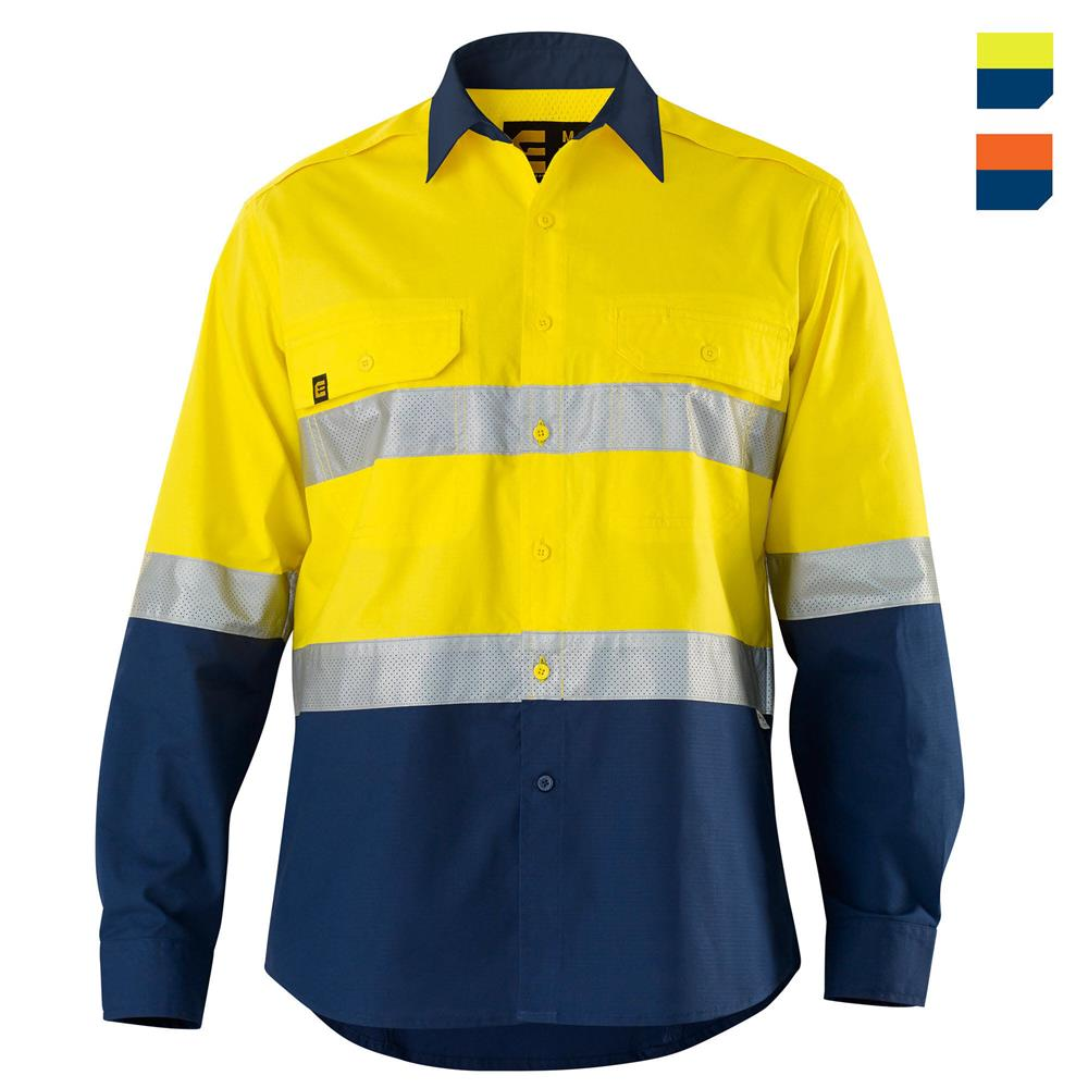 E1370ST Hi Vis AeroCool Shirt with Tape