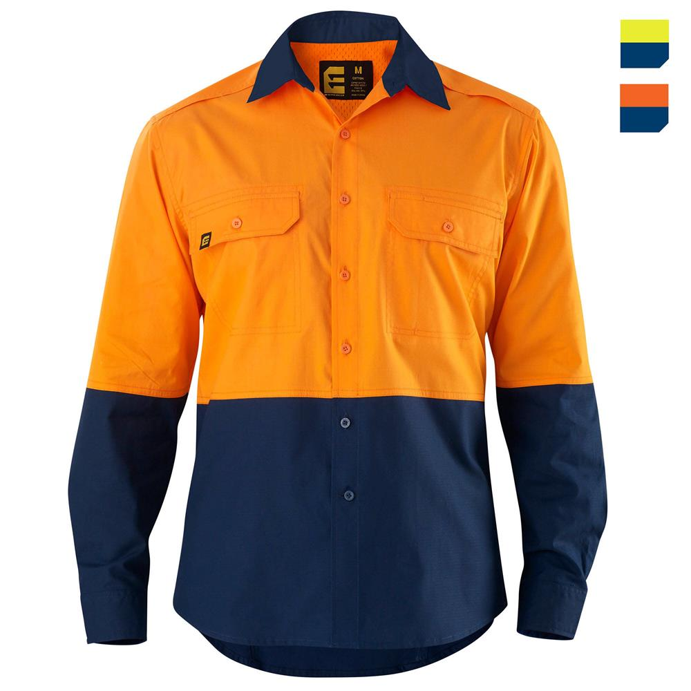 E1370S Hi Vis Spliced AeroCool Shirt