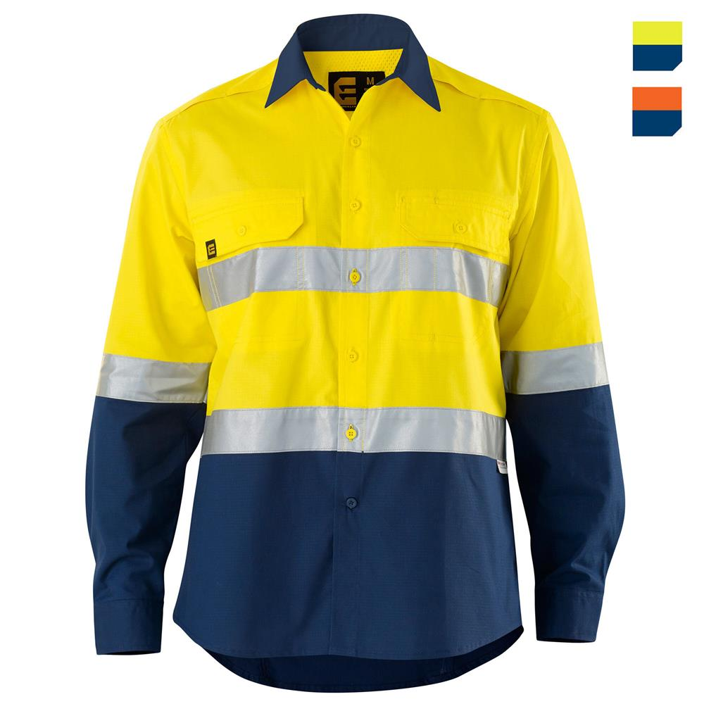 E1371ST Hi Vis AeroCool Shirt with Tape
