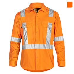E1372T Hi Vis AeroCool Long Sleeve Shirt with 3M