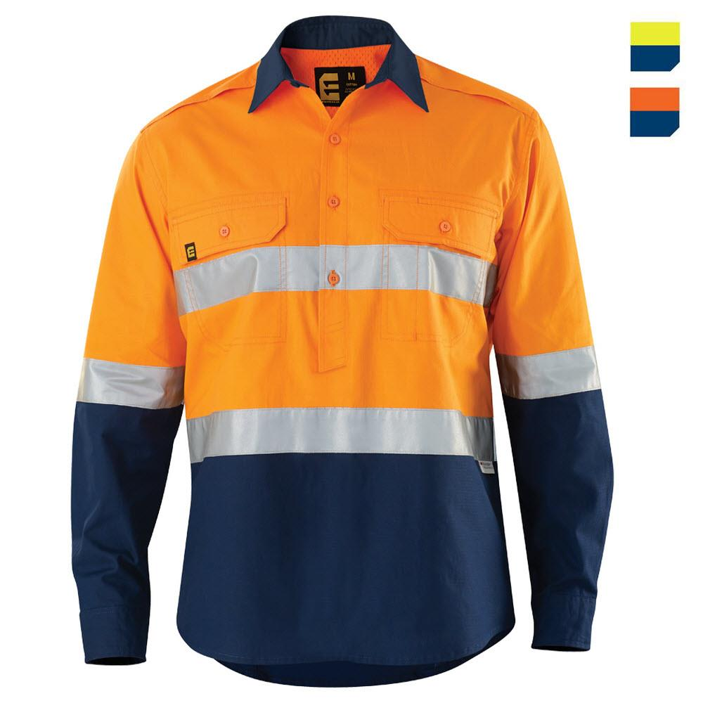 E1374ST Hi Vis AeroCool Closed Front Shirt