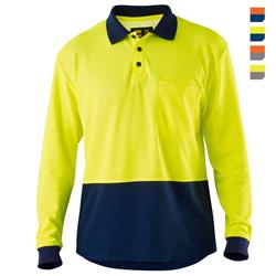 E1400S Hi Vis Cotton Backed Polo Shirt