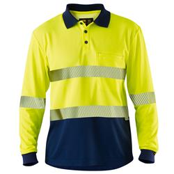 Hi Vis Polo with Segmented Tape