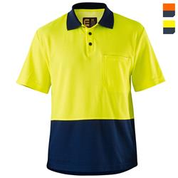 E1403S Hi Vis Cotton Backed Polo Shirt