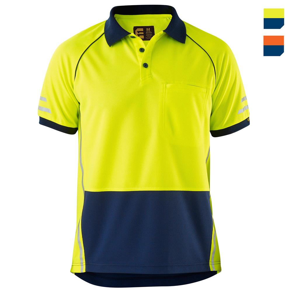 Work polos for Hi vis t shirt printing