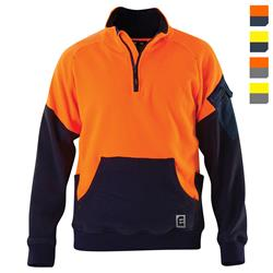 E1500S Hi Vis Qtr Zip Polar Fleece Jumper