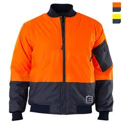 Hi Vis Spliced Bomber Jacket