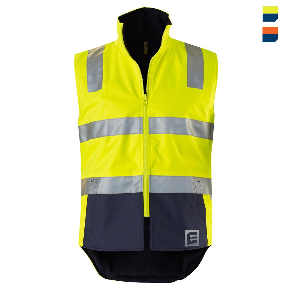 E1830ST Hi Vis Spliced Reversible Vest with Tape