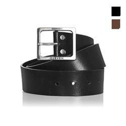 Leather Belt with Metal Buckle