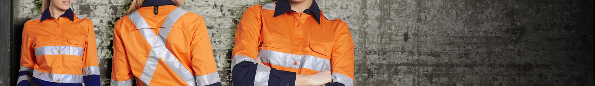 Being seen and staying safe at work is important; our range of High Visibility workwear allows you to wear your favourite styles in High Visibility colours or with 3M retro reflective tapes. All our styles meet Australian and New Zealand standards 4602.1:2011 for either Day or Day/Night visibility. Choose from Evolution Drill shirts with mechanical stretch to cool yet durable AeroCool shirts with perorated 3M Retro reflective tape.