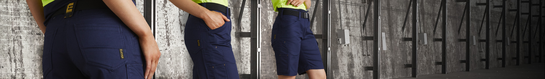 Our Engineered AeroCool work short is designed for all day working comfort with built in mechanical stretch and a lighter weight Ripstop Drill fabric.